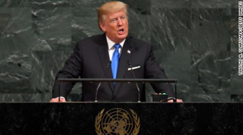 US President Trump at UN
