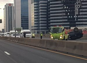 Accident on Don Mueang tollway