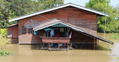 Badly flooded house Ayutthaya