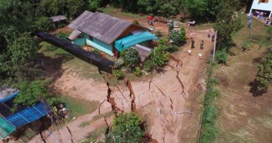 Landslide,house sink