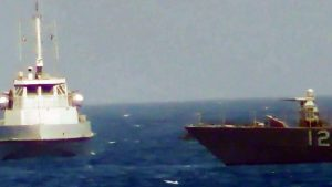 Iran US warships warning shots