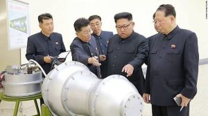 Kim Jong UN with nulear device
