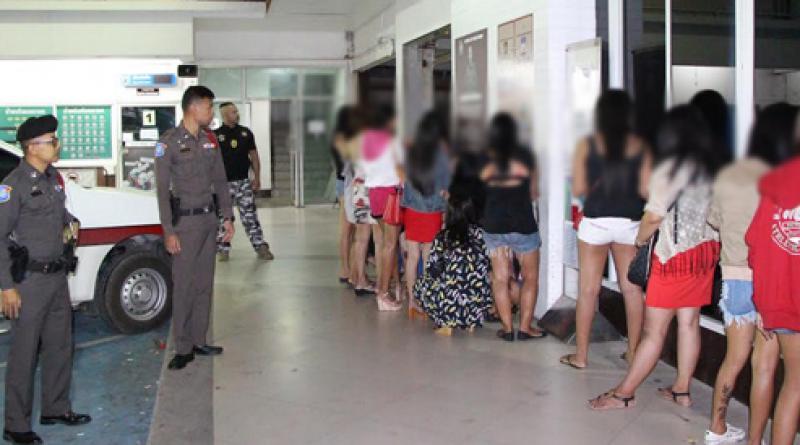 crackdown in pattaya  s 22 suspected prostitutes