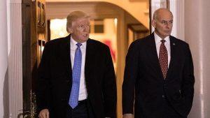 US President Trump and Gen John Kelly