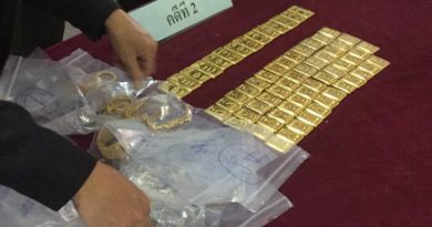 gold seized from drug suspect's network
