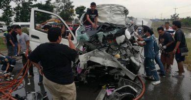 wrecked van