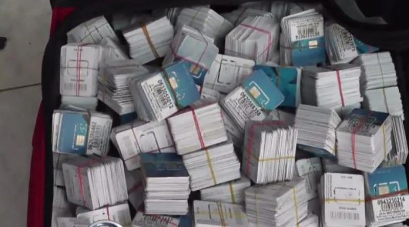 Cambodian SIM cards seized