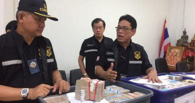 Cash smuggled to Laos