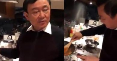 Former PM Thaksin Shinawatra in Japan