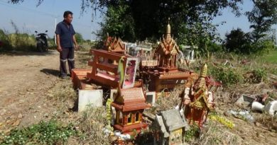discarded spirit houses
