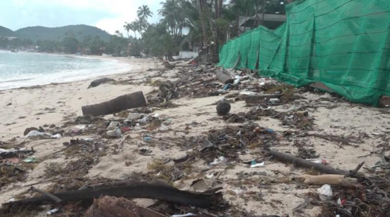 resized trash on Koh Samui beach
