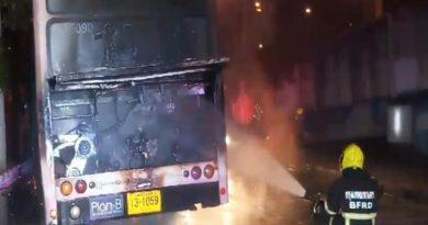 Bus ablaze