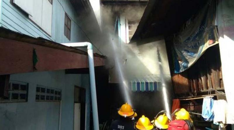 Old couple's house ablaze