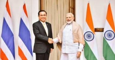Thai Prime Minister Prayut with Indian Prime Miniser Narendra Modi