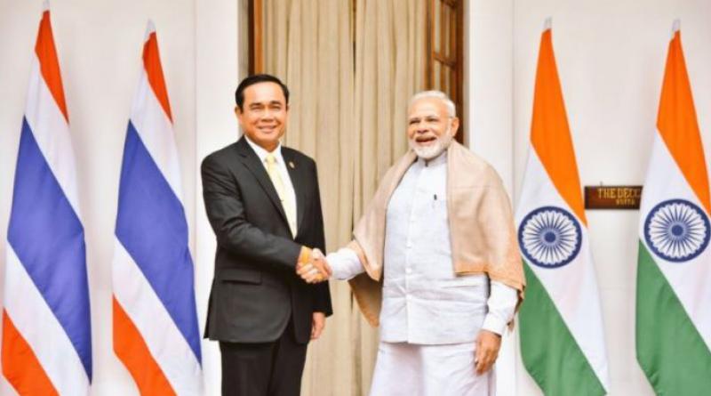 Thai Prime Minister Prayut with Indian Prime Miniser Narendra Modi