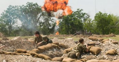 World War II reenactment in Texas