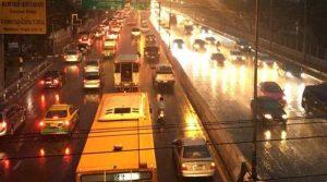 Bangkok rain, heavy jams