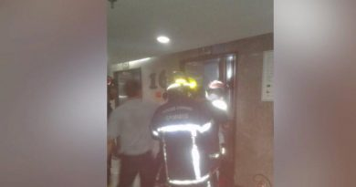 Hotel elevators plung