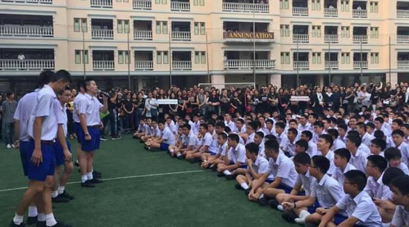 Saint Gabriel's College students protest