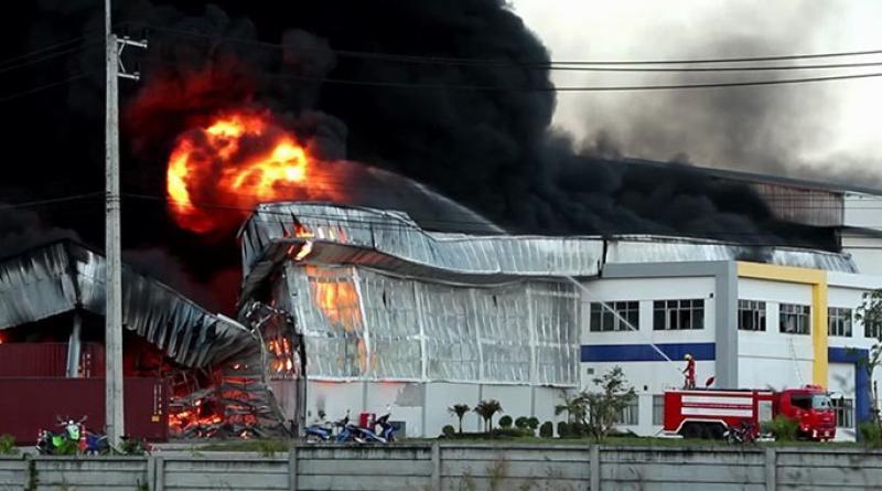 Trang factory fire