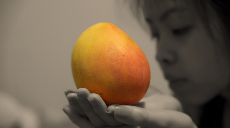 A mango offered