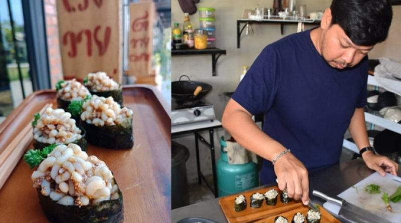Ant's egg sushi