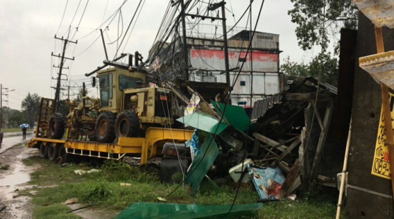 Trailer-truck smashes house