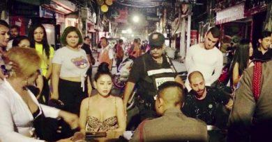 Transvestite,Iranian tourist brawl, Pattaya