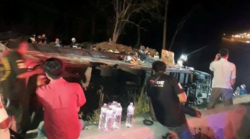 Bus plunge Myanmar workers dead