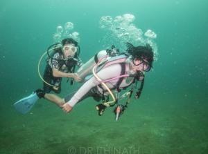 Disabled people diving Phang Nga