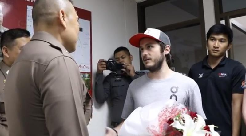 Europe running champ thanks Thai police