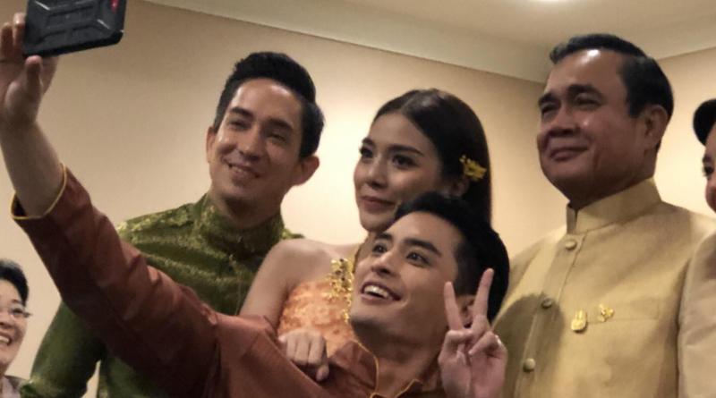 PM Prayut meets TV drama stars