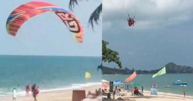Parasailing paragliding Koh Samui beach