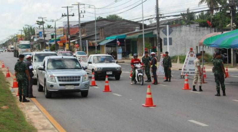 Songkran checkpoint
