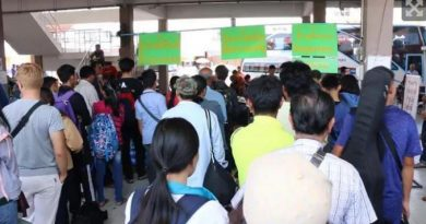 Songkran returnees pack bus terminal