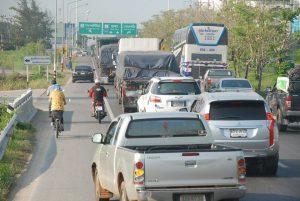 Songkran traffic