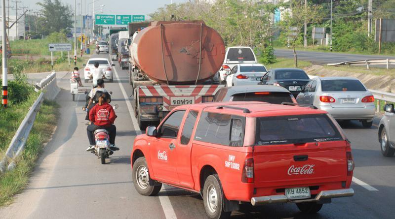 Songkran traffic jam