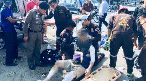 Tourist hurt van accidnet