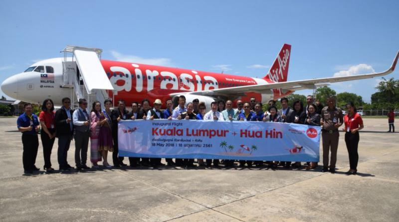 Air Asia's inaugeral KL-Hua Hin flight