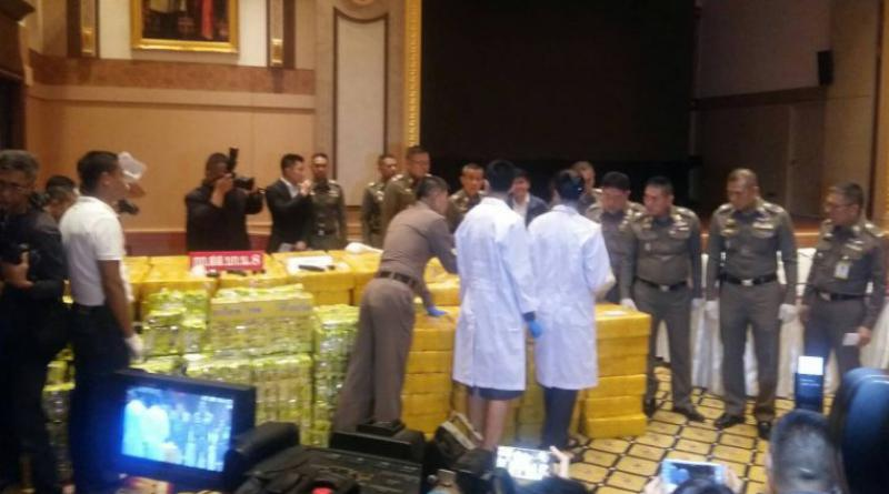 Drug haul in Bangkok