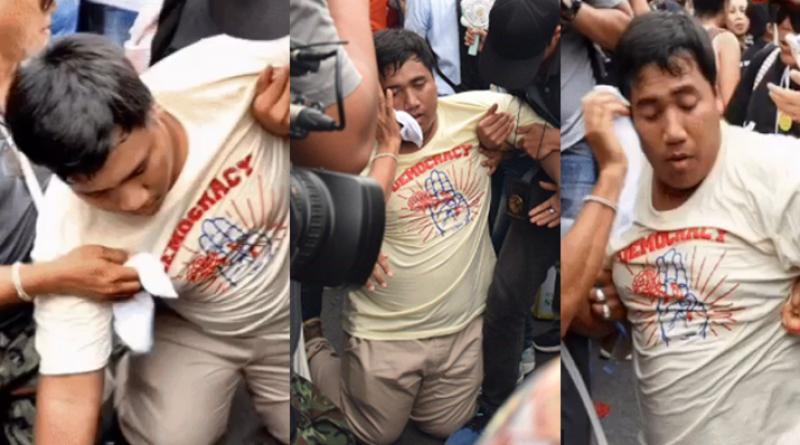 Pro-election leader faints