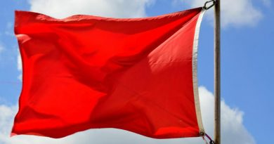 Red flag at Phuket beach