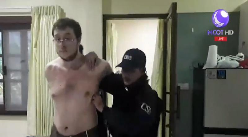 hacker gang head held