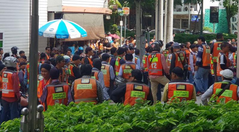 motorcycle taxi drivers protest