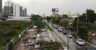 violent storm hits Bangkok