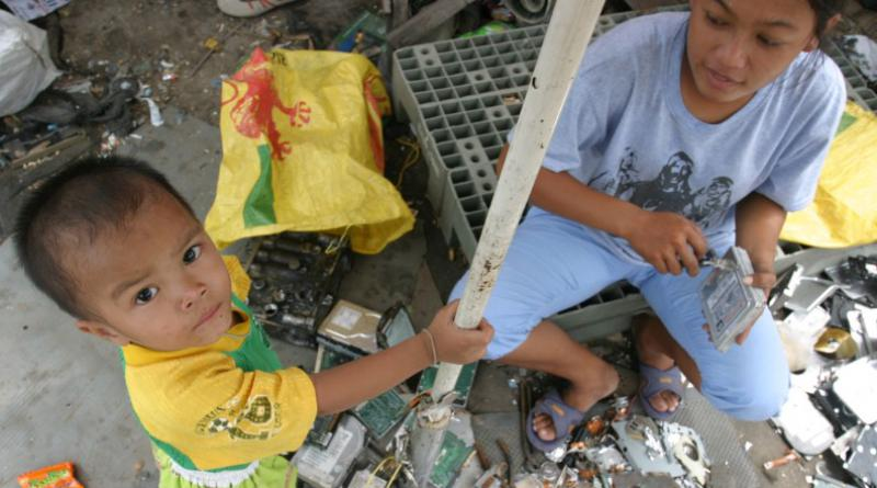 E-waste affecting mother and child