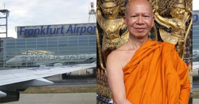 Ex-monk at Frankfurt Airport