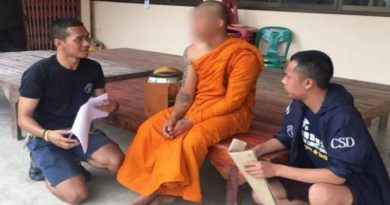 Former monk arrested on rape charge