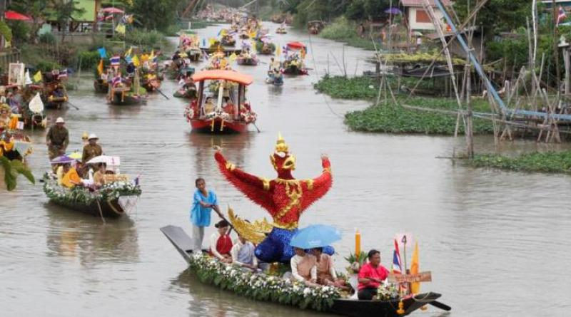 Ayutthya candle boat procession