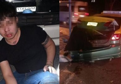 Suthep's nephew bashed up after crash in Ekamai